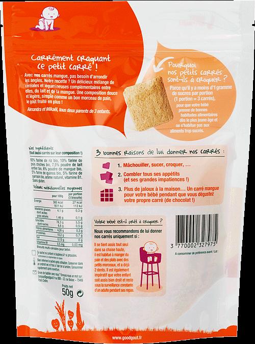goog gout carre mangue biscuit