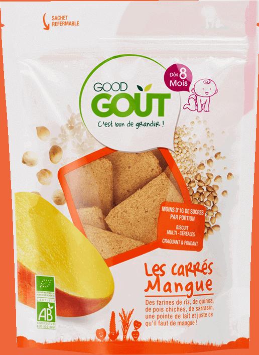 good gout carre mangue biscuit